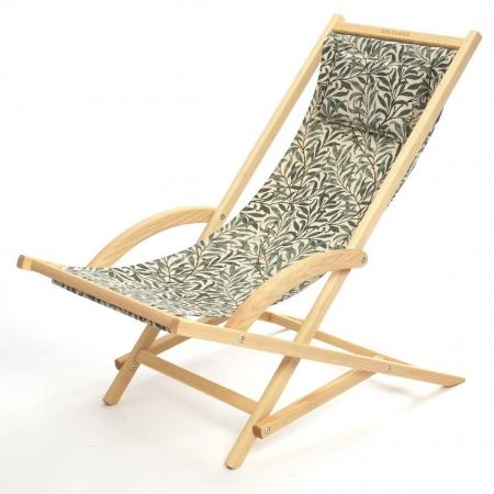solgunga solstol med tyg från Morris & Co